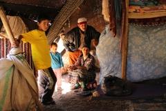 Nomadic Berber Family in Morocco