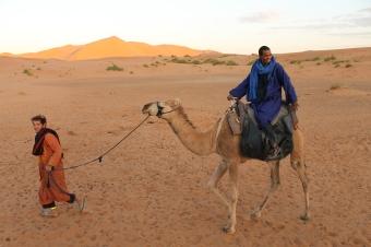Berber tour guides in Moroccan Sahara